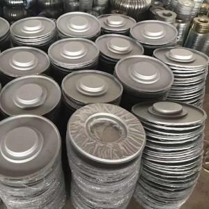 Metal caps for filters